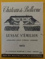 10610- Château De Bellevue 1973 Lussac Saint Emilion - Bordeaux