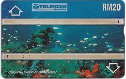 Malaysia (Kadfon) - World Underwater - L&G - 501E - 1995, 20RM, 100.000ex, Used - Malaysia