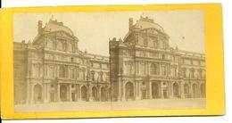 PHOTO STEREOTYPE SUR SUPPORT CARTON / PARIS - LE LOUVRE - Anciennes (Av. 1900)