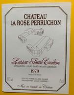 10611 - Château La Rose Perruchon 1979 Lussac Saint Emilion - Bordeaux