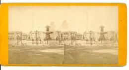 PHOTO STEREOTYPE SUR SUPPORT CARTON / PARIS - PLACE DE LA CONCORDE - Anciennes (Av. 1900)