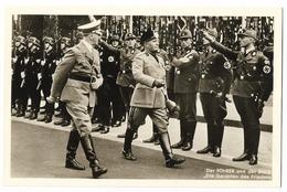 Adolf Hitler Avec Mussolini  - Propaganda  - III Reich - Personnages