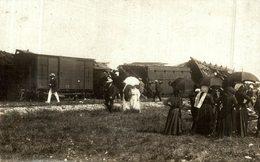 CARTE PHOTO CATASTROPHE FERROVIAIRE A SAUJON DERAILLEMENT DE TRAIN - Saujon