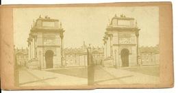 PHOTO STEREOTYPE SUR SUPPORT CARTON / PARIS - LES TUILERIES - Anciennes (Av. 1900)