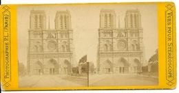 PHOTO STEREOTYPE SUR SUPPORT CARTON / PARIS - CATHEDRALE NOTRE DAME DE PARIS - Anciennes (Av. 1900)