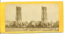 PHOTO STEREOTYPE SUR SUPPORT CARTON / PARIS - COURS SAINT JACQUES - Anciennes (Av. 1900)