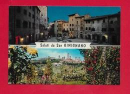 CARTOLINA NV ITALIA - Saluti Da San GIMIGNANO (SI) - Vedutine Multivue - 10 X 15 - Saluti Da.../ Gruss Aus...