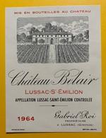 10615 - Château Belair 1964 Lussac Saint Emilion - Bordeaux