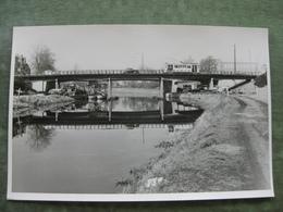 GENT - FOTO 18 X 11,5 - ALBERTBRUG 1952 MET TRAM ( Scan Recto/verso ) - Gent