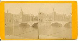 PHOTO STEREOTYPE SUR SUPPORT CARTON / PARIS - LA CONCIERGERIE - Anciennes (Av. 1900)