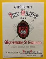 10617 - Château Tour Musset 1977 Montagne-Saint Emilion - Bordeaux