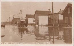 RPPC REAL PHOTO POSTCARD 1916 FLOOD NORWOOD WINNIPEG MEYERS PHOTO - Winnipeg