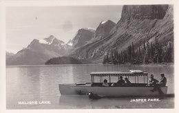 RPPC REAL PHOTO POSTCARD MALIGNE LAKE JASPER - Jasper