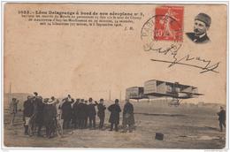 LEON DELAGRANGE A BORD DE SON AEROPLANE No 3 1912 - Aviateurs