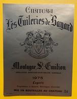 10622 - Château Les Tuileries De Bayard 1975 Montagne-Saint Emilion - Bordeaux