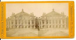 PHOTO STEREOTYPE SUR SUPPORT CARTON / PARIS - NOUVEL OPERA - Anciennes (Av. 1900)