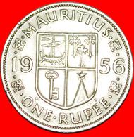 + SHIP: MAURITIUS ★ 1 RUPEE 1956! LOW START ★ NO RESERVE! - Mauritius
