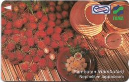 Malaysia (Uniphonekad) - Fama - Rambutan - 91MSAB - 1995, 15.000ex, Used - Malaysia