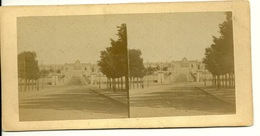PHOTO STEREOTYPE SUR SUPPORT CARTON / PARIS - ECOLE MILITAIRE - Anciennes (Av. 1900)