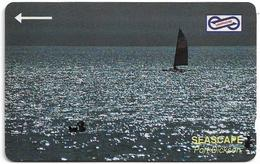 Malaysia (Uniphonekad) - Port Dickson Seascape - 52MSAA - 1993, 250.000ex, Used - Malaysia