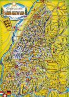 1 Map Of Germany * 1 Ansichtskarte Mit Der Landkarte - Der Schwarzwald - Krüger Karte * - Landkarten