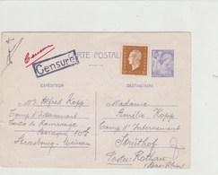Camp D'internement De La Meinau Pour Camp D'nternement Du Struthof Du 30-06-1945 Avec Censure - Guerre De 1939-45