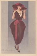 Art Deco ; COLOMBO , Female Fashion Portrait #1, 1910-30s - Colombo, E.