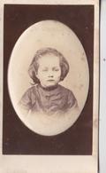 CDV   Portrait D'un Enfant En Blouse  1872,  Médaillon En Relief    Photo Jamin 13 Rue Du Chapon Paris - Anciennes (Av. 1900)