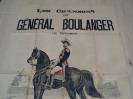 AFFICHE LES CHANSON DU GENERAL BOULANGER PAR WILLEMER - Posters