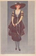 Art Deco ; COLOMBO , Female Fashion Portrait #4, 1910-30s - Colombo, E.
