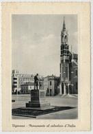 VIGEVANO   MONUMENTO  AL  CALZOLAIO  D'ITALIA  E  CHIESA  MADONNA  DI  POMPEI         (VIAGGIATA) - Vigevano