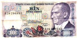 Billets >  Turquie > 1000 Lires - Turquie