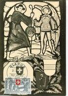 45630 Switzerland, Maximum 1952 Glarus Und Zug, Pro Patria 1952 - Maximumkaarten