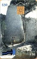 Zimbabwe - ZIM-01, Cone Shaped Building, 25.000ex, 1995, Used As Scan - Simbabwe