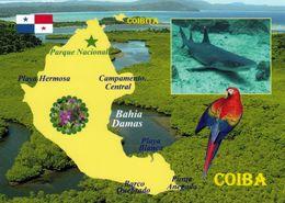 1 Map Of Panama * 1 Ansichtskarte Mit Der Landkarte Der Insel Coiba - Liegt Vor Der Pazifikküste Von Panama * - Landkarten