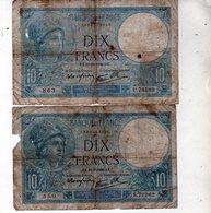 Lot De 5 Billets De Dix Francs Minerve En B - - 1871-1952 Anciens Francs Circulés Au XXème