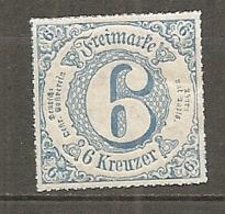 T Et T - Yv. N° 51 Mi. N°53 Percé Ligne Coloré   * 6k  Bleu  Etats Du Sud Cote  2 Euro  BE  2 Scans - Tour Et Taxis