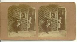 PHOTO STEREOTYPE SUR SUPPORT CARTON / THEATRE D'ENFANTS - Anciennes (Av. 1900)