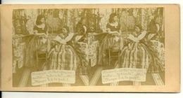 PHOTO STEREOTYPE SUR SUPPORT CARTON / PAROLES DE FEMMES - LA RUPTURE - Anciennes (Av. 1900)