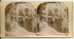 PHOTO STEREOTYPE SUR SUPPORT CARTON / GROTTES DE BETHARRAM - LA SALLE DES LUSTRES - Anciennes (Av. 1900)