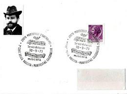 ITALIA - 1973 MONTICELLI ONGINA (PC) 1° Cent. Nascita AMILCARE ZANELLA Musicista (spartito Musicale) - Musica