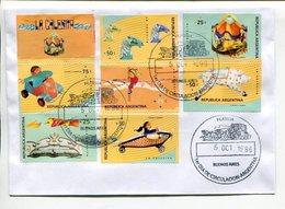 LA CALESITA,CARRUSEL CAROUSEL CARROUSEL. ARGENTINA AÑO 1996 SOBRE PRIMER DIA ENVELOPE FDC TBE -LILHU - Juegos