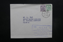 LIBYE - Enveloppe 1 Er Vol Tripoli / Tunis En 1959 , Affranchissement Plaisant - L 32475 - Libye