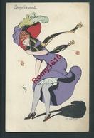 Illustration Ch. Naillod. Coup De Vent. Jolie Femme Au Chapeau.  N°123/4. Circulé En 1913. 2 Scans. - Naillod
