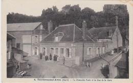 27 -   TILLIÈRES SUR AVRE  La Nouvelle Poste Et La Rue De La Gare - Tillières-sur-Avre