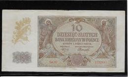 Pologne - 10 Zlotych - Pick N°94 - 1940 - TTB - Pologne