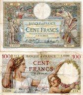 Lot De 4 Billets Français  - 3 De 100 Francs Et 1 De 10 Francs - - Coins & Banknotes