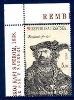 CROATIA 2006 Rembrandt 400th Anniversary MNH / **.  Michel 755 - Croatie