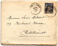 France Convoyeur Ligne Pontivy à Auray T1 Du 31/12/1895 Ind 2 - Marcophilie (Lettres)