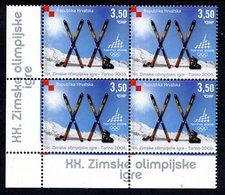 CROATIA 2006 Winter Olympics Block Of 4 MNH / **.  Michel 754 - Croatie